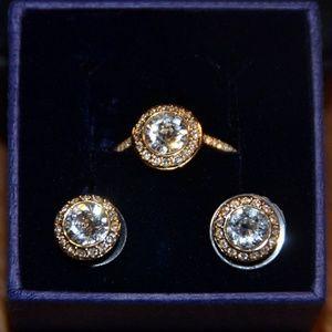 Swarovski Angelic Ring and Earing set